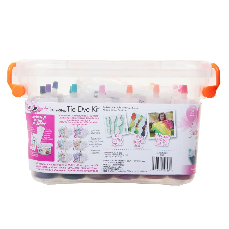 Tie-Dye Party Kit back of kit