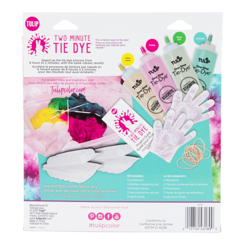 Tulip Two-Minute Tie Dye Kit back package