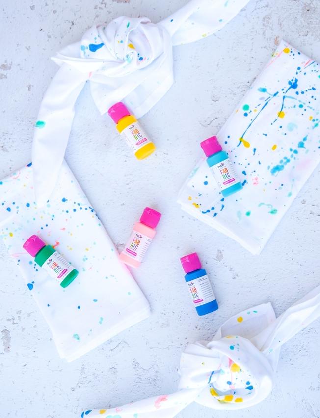 Splatter-Paint Cloth Napkins
