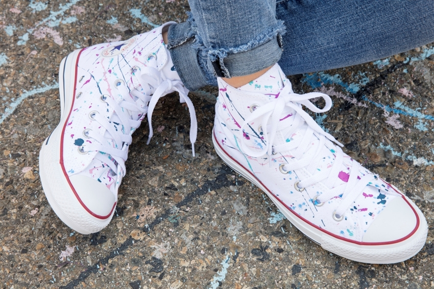 Splatter Painted Shoes