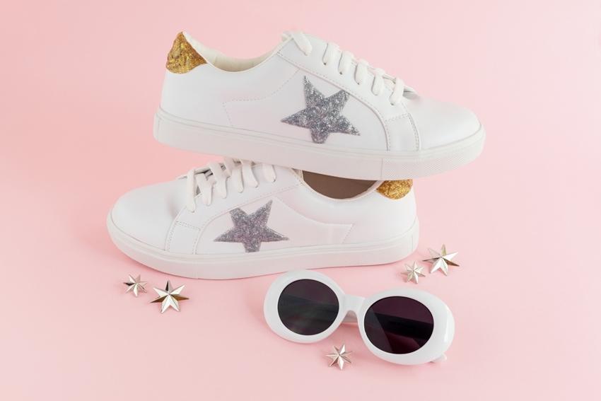 Dazzling Glitter Paint Shoes