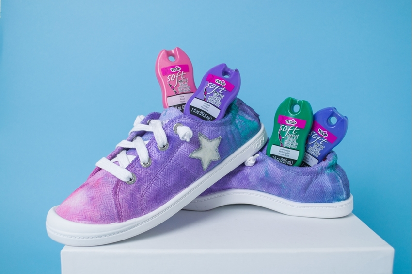 Ice Dye Shoes with Fabric Paint