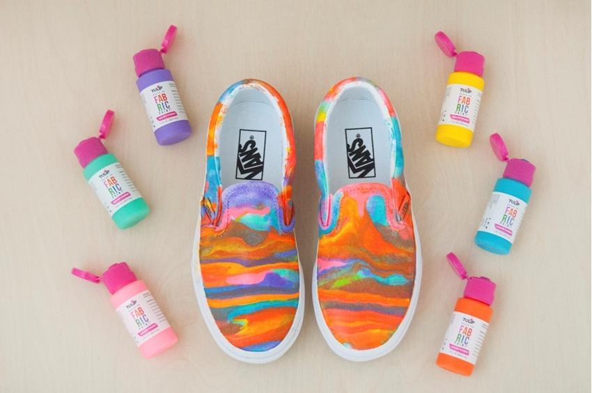 Paint Pour Shoes