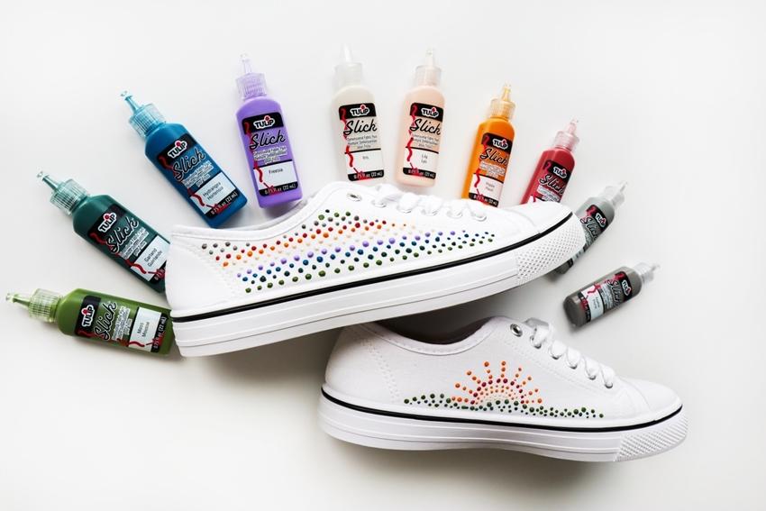 Dot Art Puff Paint Shoes
