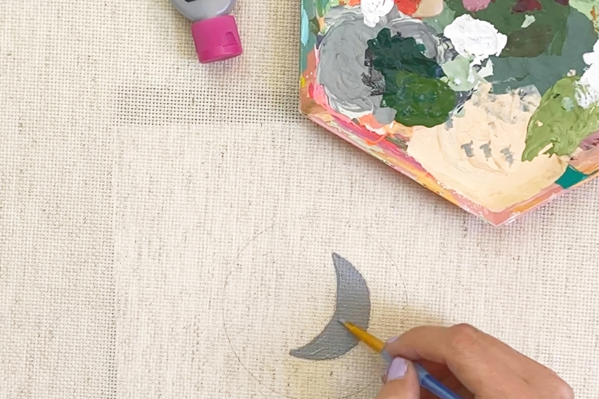 Begin painting designs