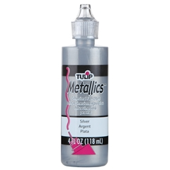 Picture of Tulip Dimensional Fabric Paint Metallics Silver 4 oz.