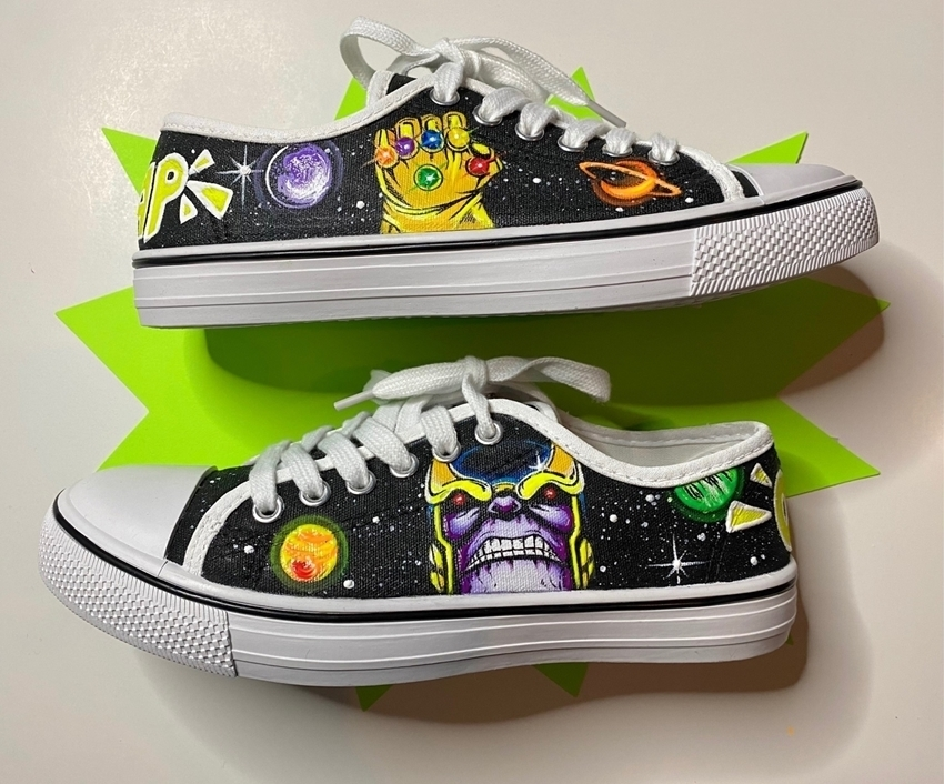 DIY Superhero Shoes with Fabric Paint