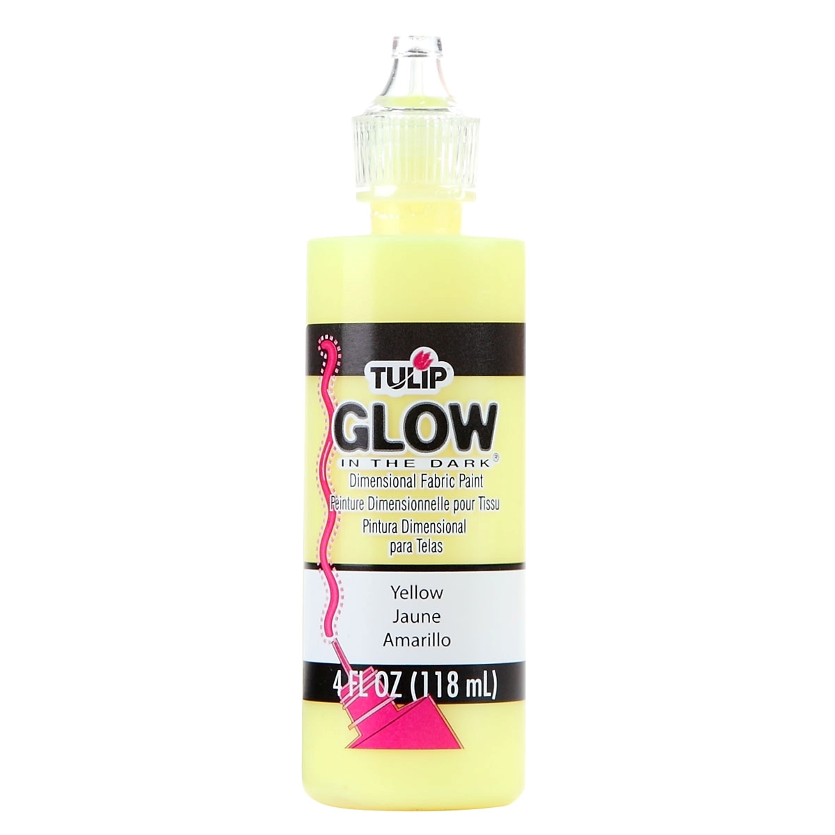 Picture of Tulip Dimensional Fabric Paint Glow Yellow 4 oz.