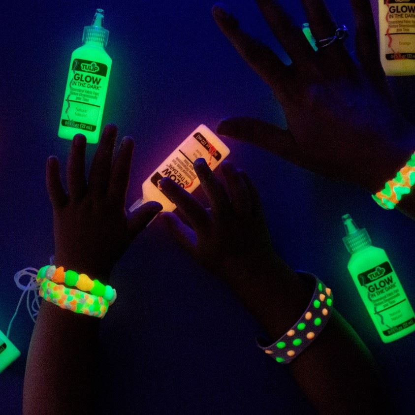 Picture of Tulip Glow in the Dark Dimensional Fabric Paint 10 Pack