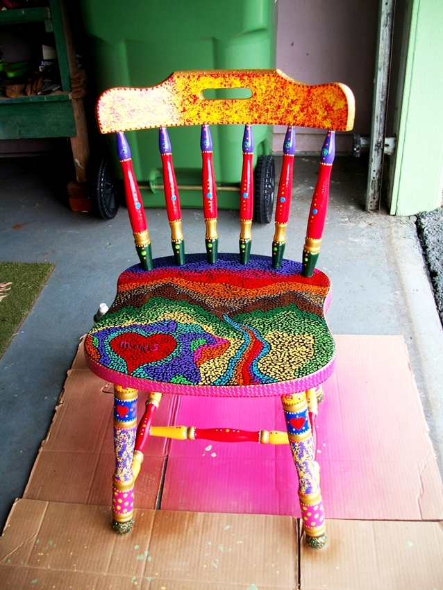 Puff Paint chair by Abigail Reeves