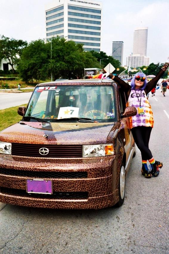 Abigail's art car with Puff Paint