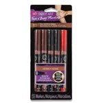 32670 Body Art Face & Body Markers Henna 5 Pack Package