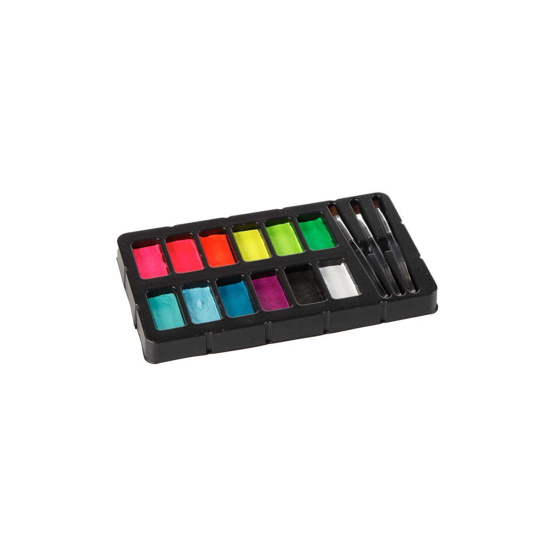 32388 Body Art Face & Body Paint Kit Neon & Blacklight Contents 2