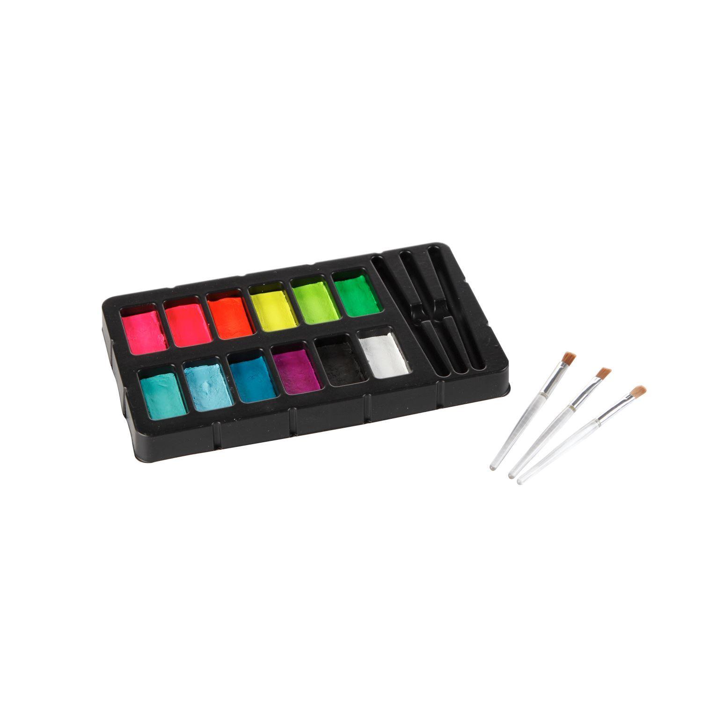 32388 Body Art Face & Body Paint Kit Neon & Blacklight Contents 1