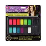32388 Body Art Face & Body Paint Kit Neon & Blacklight Package
