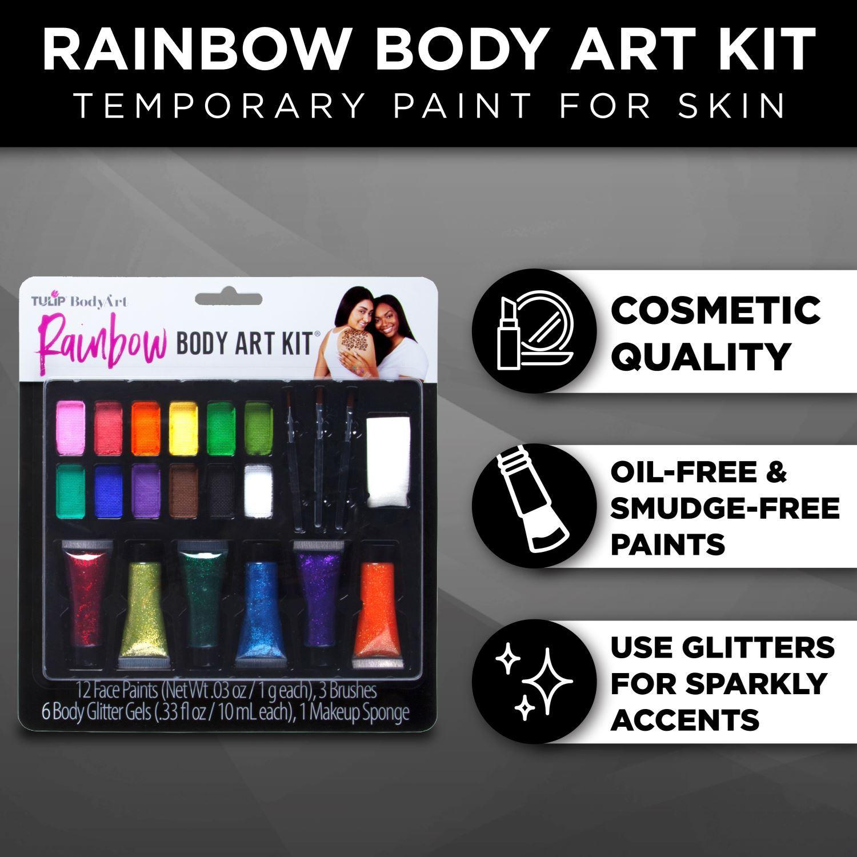 Tulip® Body Art® Face & Body Paint infographic