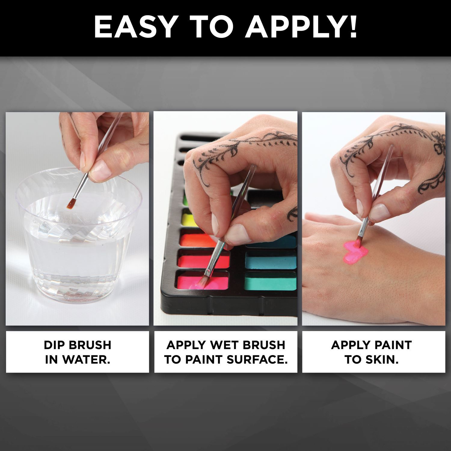 Tulip® Body Art® Face & Body Paint how to apply