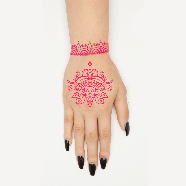 45633 Ultimate Henna Color Vibrant Tattoo Kit Design on Hand