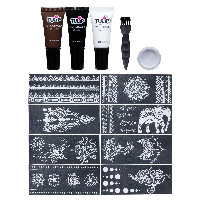 46477 Body Art Ultimate Henna Tattoo Kit Contents