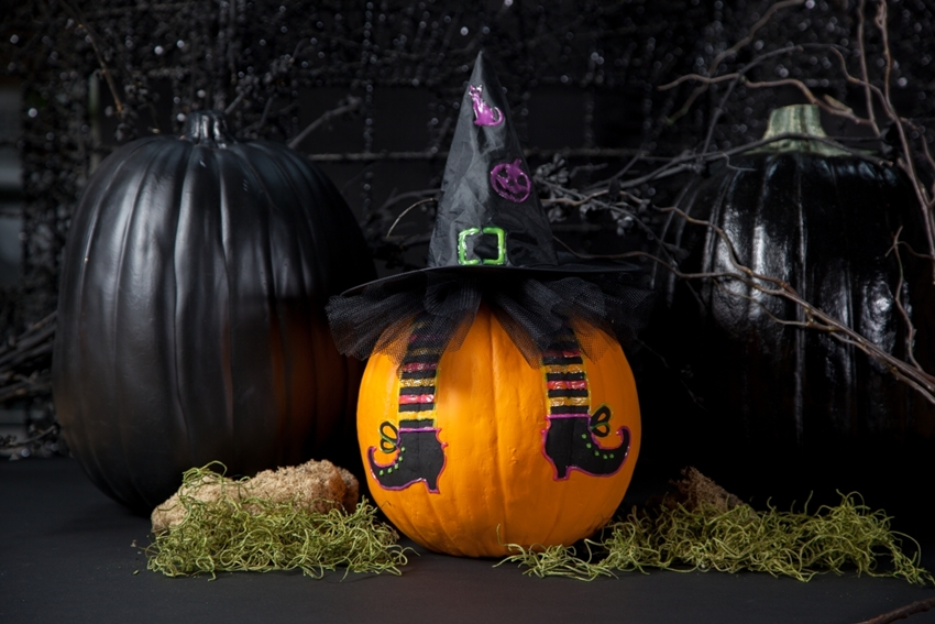 Witchy Painted Pumpkin