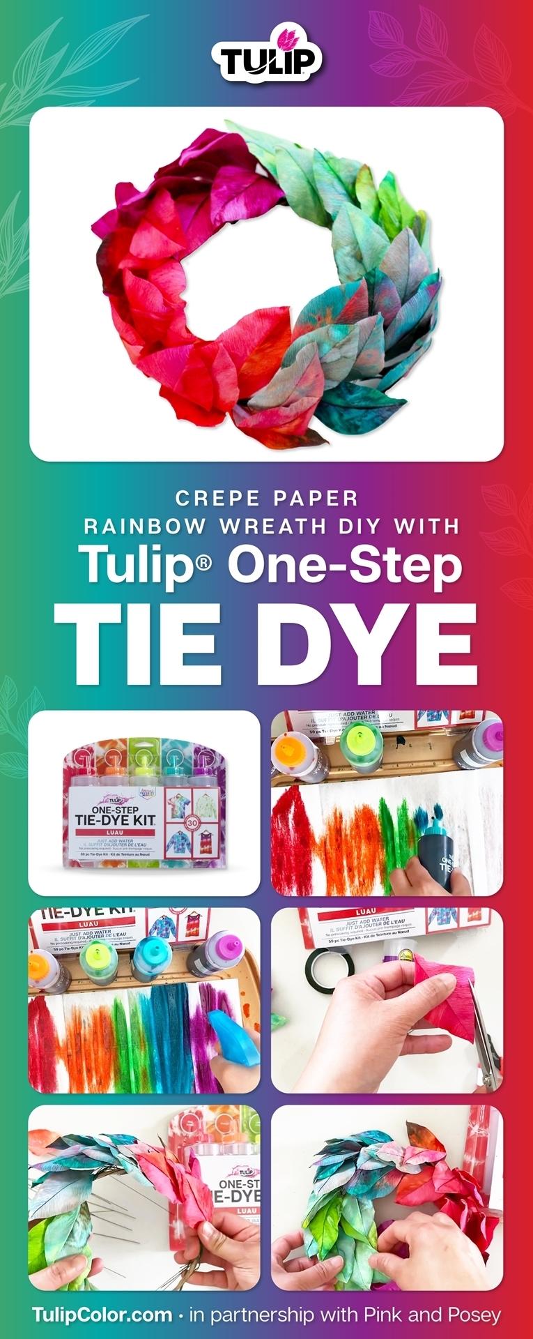 Rainbow Tie Dye Wreath project