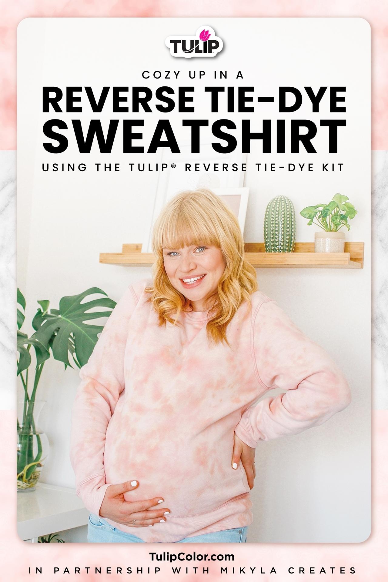 DIY Colorful Reverse Tie Dye Sweatshirt