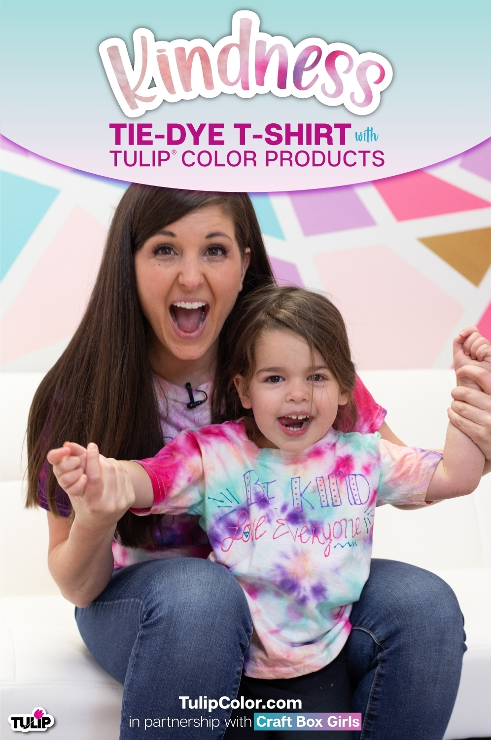 Mommy and Me Kindness Tie-Dye T-shirts