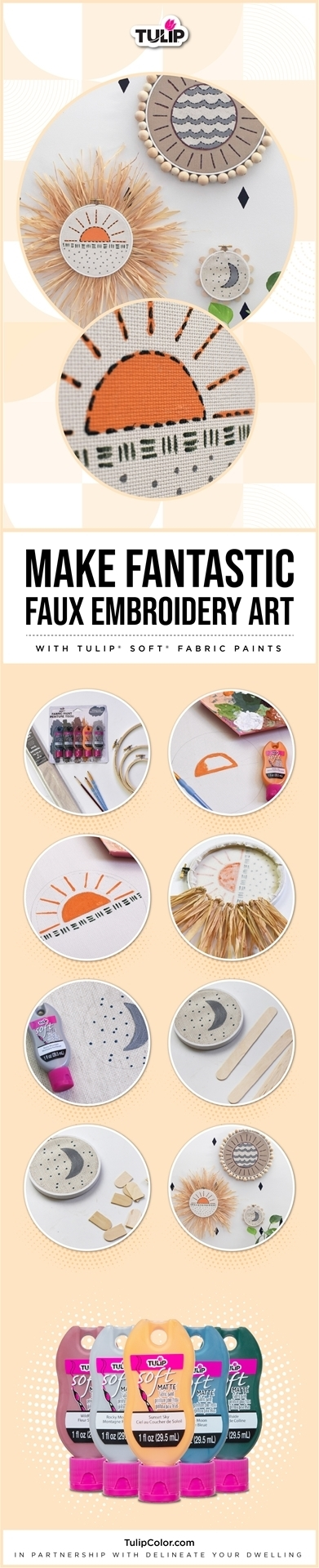 Fabric Paint Faux Embroidery Painting Tutorial