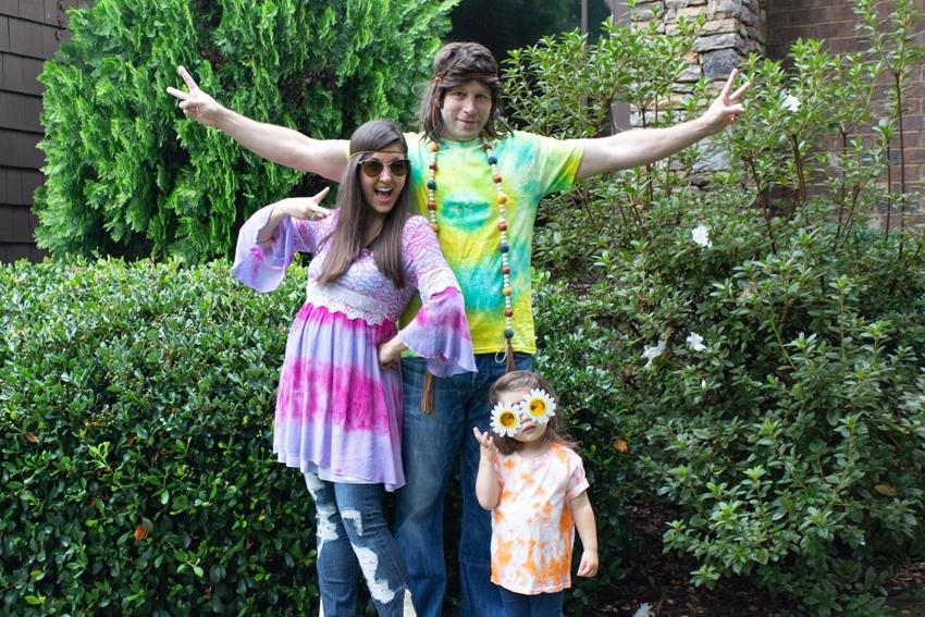 Tie-Dye Family Hippie Costumes