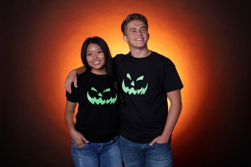 Glowing Jack o' Lantern T-shirts