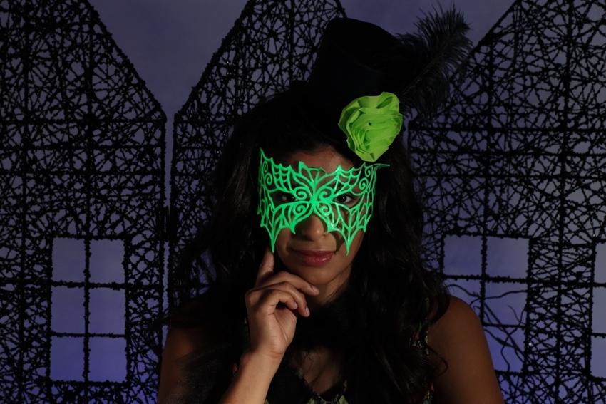 Glowing 3D Paint Bat Mask