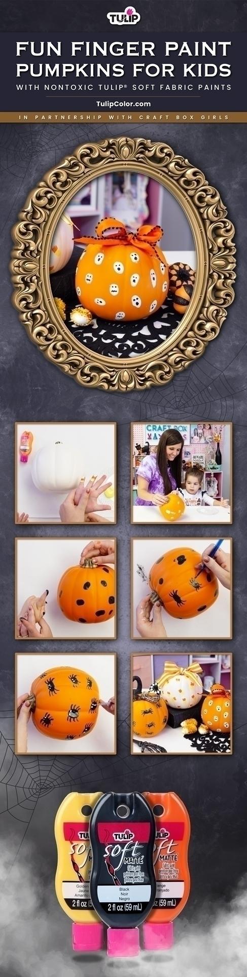 Finger Paint Pumpkins