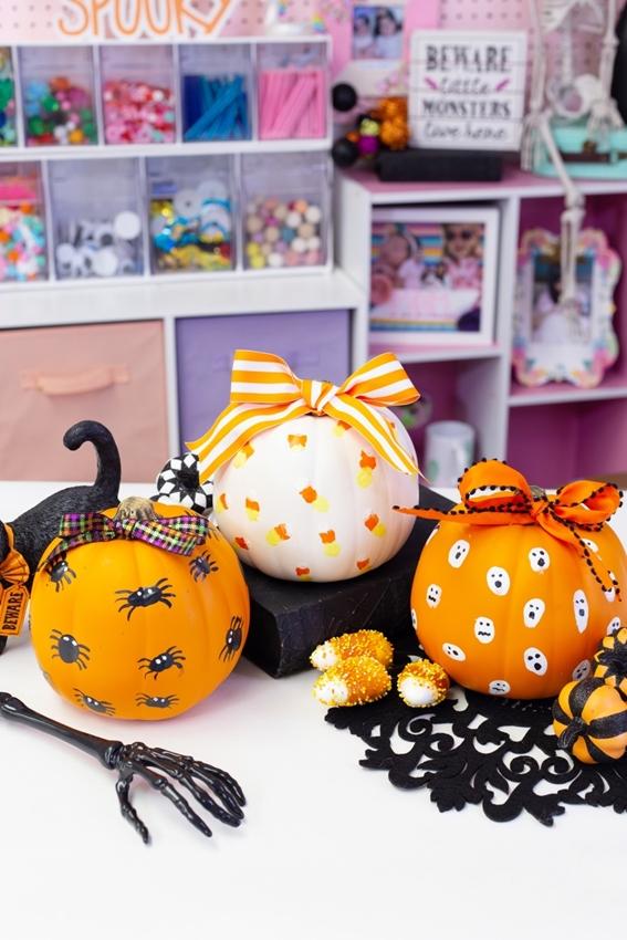 Finger Paint Designs for Pumpkins