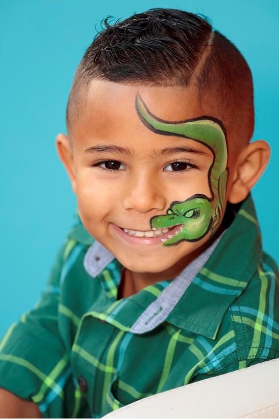 Crocodile Face Paint Idea