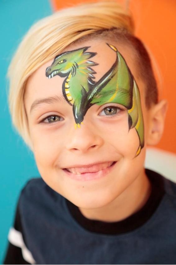Dragon Face Paint Idea
