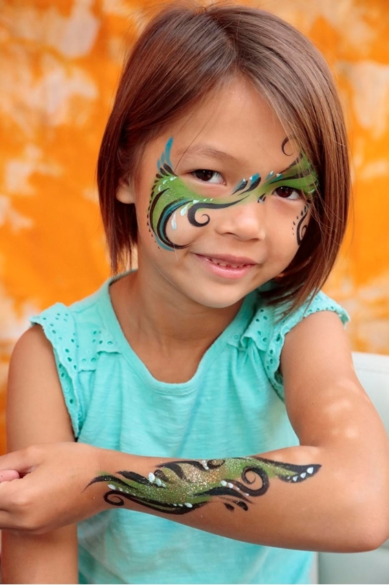 Shimmer Feathers Face Paint Idea