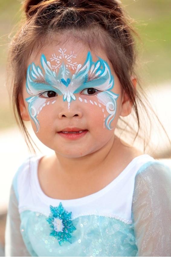 Ice Princess Face Paint Idea
