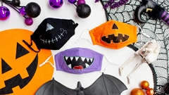 Picture of Spooky Stylish Halloween Face Masks with Glow in the Dark Fabric Paint