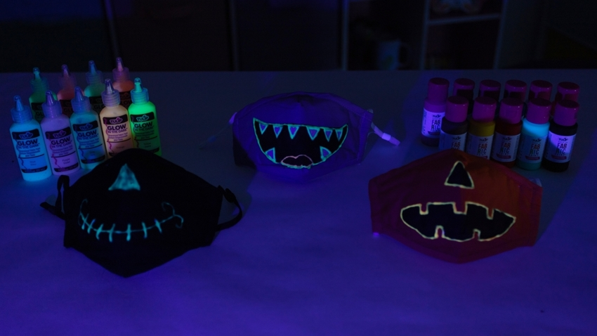 Charge your glow masks with a UV light source