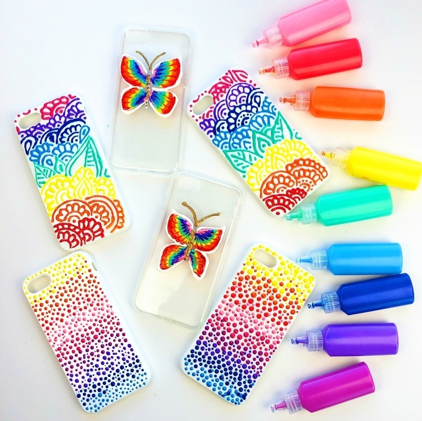 Puffy Paint DIY Phone Cases
